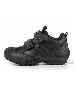 Geox Savage Black School Shoes