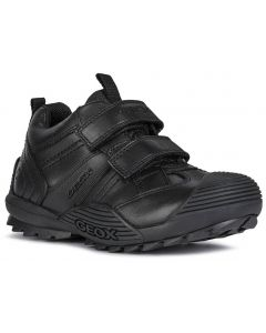 Geox Savage J0424A Black School Shoes
