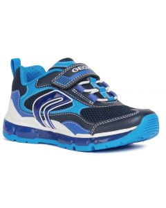 Geox Android Navy Sky Lights Trainers
