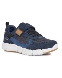 Geox Flexyper Navy Cognac Shoes