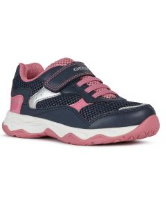 Geox Calco Navy Pink Trainers