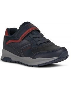 Geox Pavel Navy Red Trainers