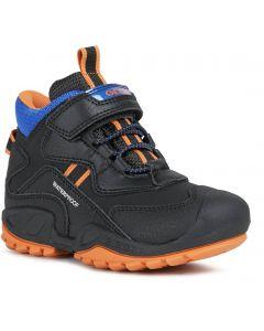 Geox Savage Black Orange Waterproof Boots