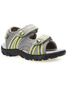 Geox Strada Grey Lime Sandals