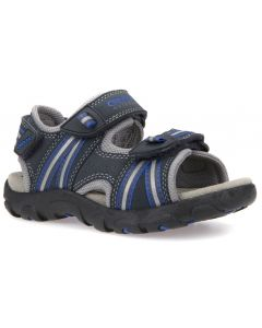 Geox Strada Navy Royal Blue Sandals