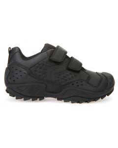 Geox Savage J641VE Black School Shoes