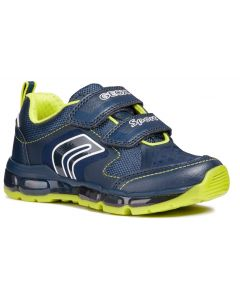Geox Android J8444A Navy Lime Trainers