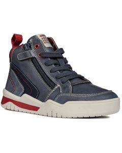 Geox Perth J847RB Navy Red Boots