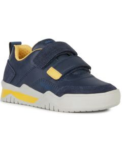 Geox Perth Navy Yellow Shoes