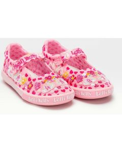 Lelli Kelly Swan Pink Canvas Shoes