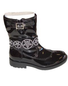 Lelli Kelly Ann Mid LK3692 Black Patent Boots