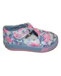 Lelli Kelly Justine Blue T-bar Shoes