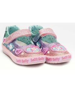 Lelli Kelly Gem Baby Rainbow Glitter Canvas Shoes