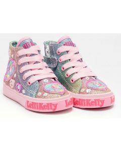 Lelli Kelly Gem Baby Rainbow Glitter Baseball Boots
