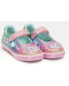 Lelli Kelly Gem Rainbow Glitter Canvas Shoes