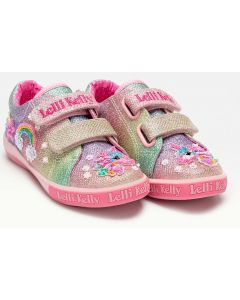 Lelli Kelly Treasure Rainbow Canvas Shoes