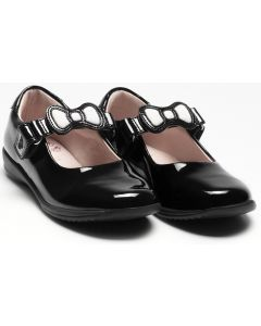 Lelli Kelly Colourissima Bow LK8800 Black Patent School Shoes