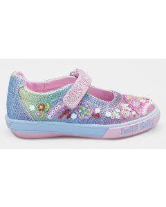 Lelli Kelly Tillie Rainbow Glitter Canvas Shoes