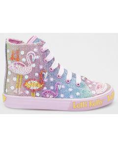 Lelli Kelly Flamingo Rainbow Multi Baseball Boots