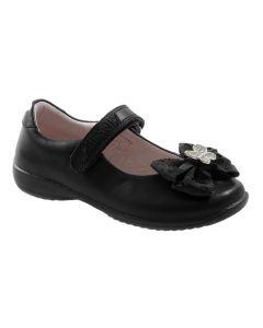 Lelli Kelly Tallulah Hair Clip Black Patent School Shoes