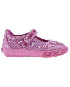 Lelli Kelly Butterfly Pink Glitter Canvas Shoes