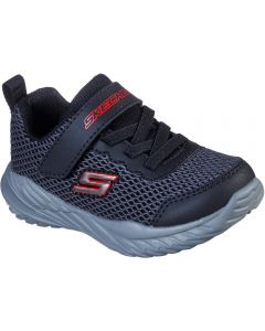 Skechers Nitro Sprint Krodon Black Red Trainers