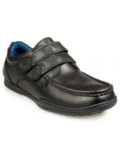 POD Paladin Black Leather School Shoe