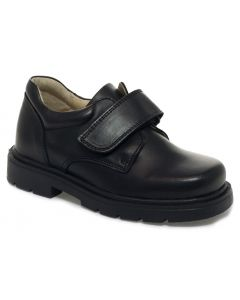 Petasil Ollie Black School Shoes