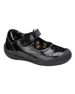 Hush Puppies Rina Black Patent School Shoes