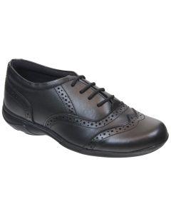 Term Eleanor Lace Black School Shoes