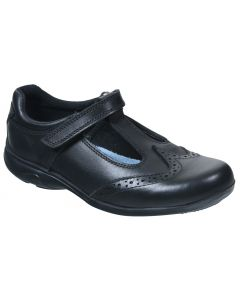 Term Janine T-bar Black School Shoes