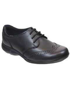 Term Summer Lace Black Leather School Shoes